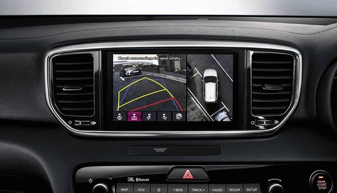 kia sportage my21 rhd 8 navigation screen with around view monitor 960x720