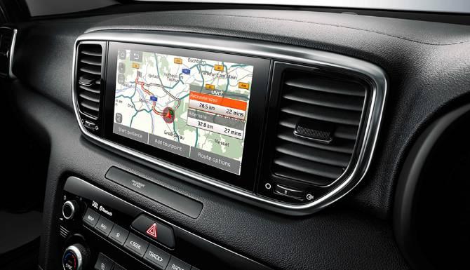 kia sportage my21 rhd 8 screen navigation  960x720