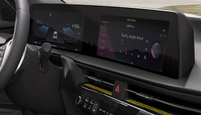 Kia EV6 Curved Displays